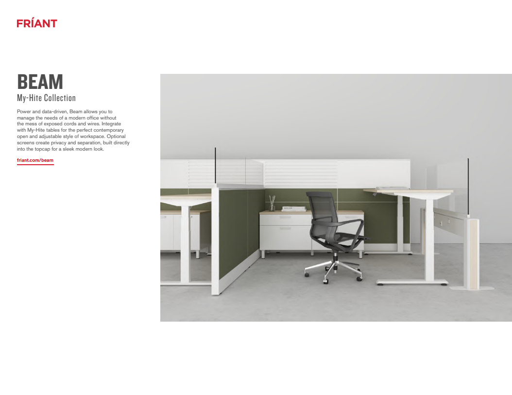 Friant Office Furniture Dealer: Metro Detroit | Discount Office Equipment - Friant_-_Beam